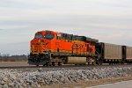 BNSF 6132 Works hard on a loaded coal drag,