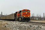 BNSF 6180 Leads a CAEG train down the Hannibal Sub.
