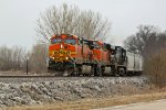 BNSF 4937 and more GE's work a freight train NB.