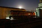 BNSF 6138 Resting under a full Moon.