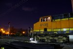 BNSF 6138 Waits for a crew as the night drags on...