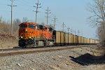 BNSF 6309 Hauls a coal load SB into Old Monroe Mo.