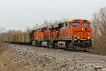 BNSF 6191 Leads a trio of Ge's.