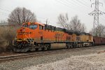 BNSF 6600 Sits tied down on the K Line.