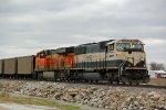 BNSF 9597 Dpu on a Nb empty coal train.
