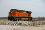BNSF 7316 Runs lite power into Old Monroe Mo.
