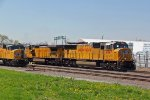 UP 4347 Leads a freight from the Alton and Southern..