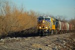 CREX 1339 Leads a empty grain train up the BNSF K-line.