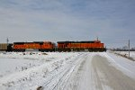 BNSF 6203 Heads up a empty coal train into Old Monroe Mo.