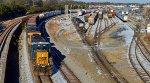 CSX Q679 passing Norfolk Southern's Industry Yard.