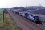 Conrail stone train at Wimpey Minerals