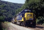 CSX 6129 East, in the Cumberland Narrows