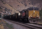UP 6469 on empty  coal drag