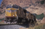 UP 4948 in the heart of Echo Canyon
