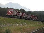 CP freight assaulting the grade west out of Lake Louise.