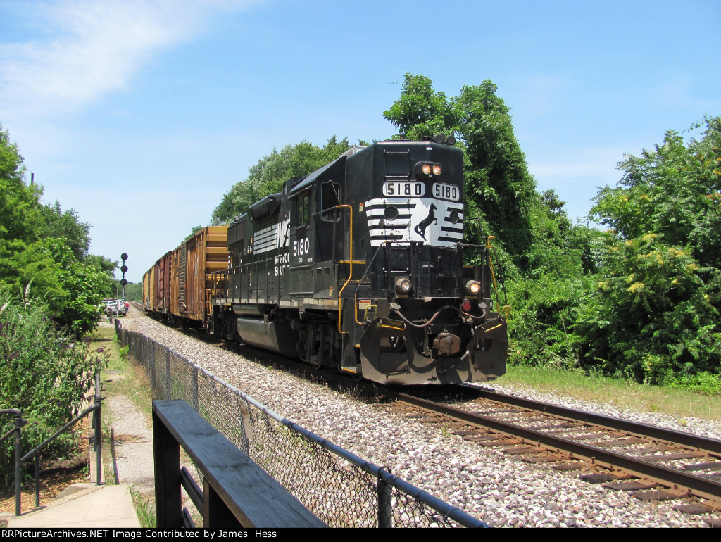 Local Train D53 passes the old Ferguson Station