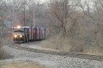 NS Train 285 passes the Depot, headed for Ferguson Junction