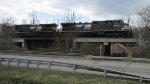 Train 224 Crosses Maline Creek in Ferguson
