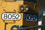 CSX 8052 - Before vinyl sign lettering, there was actually affixed numbers