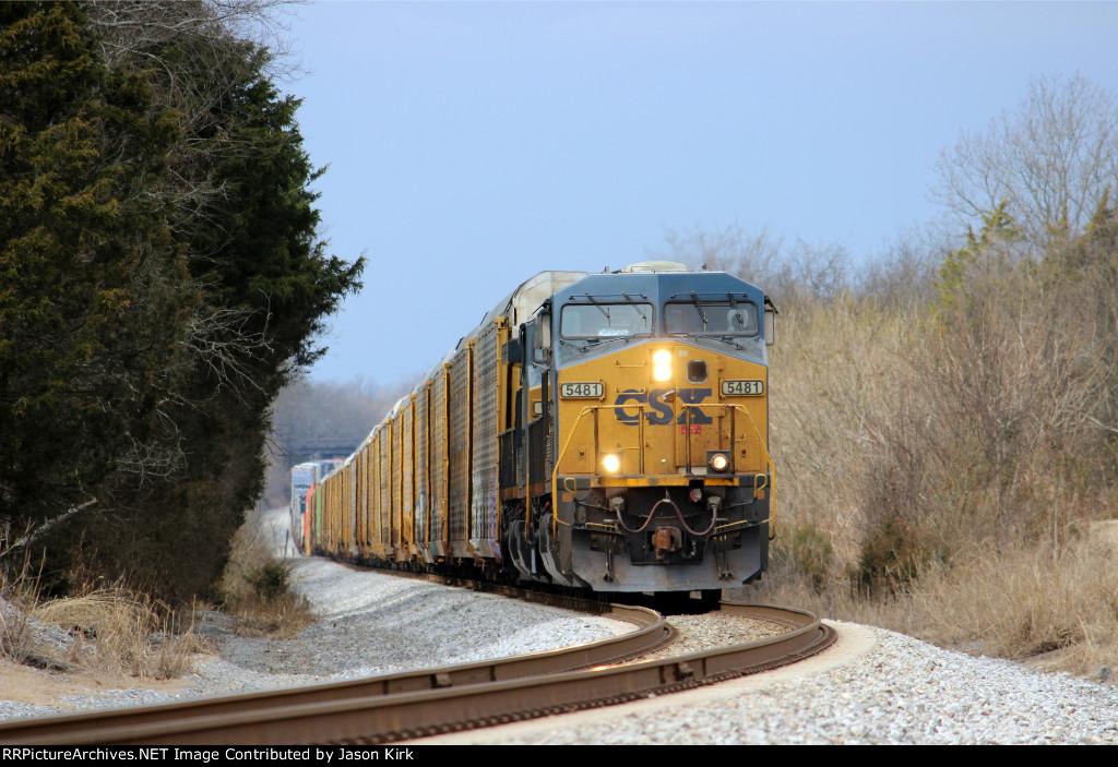 CSX 5481 Leads CSX Q 133 South