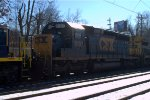 CSX SD40-2 8107 trails on Q301-30