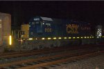 CSX SD40-2 8135 trails on Q417-11