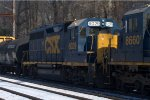 CSX GP40-2 6029 trails on Q439-30.