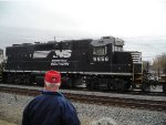 NS 5556 glides through Austell as my grandfather looks on
