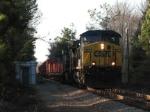March 10, 2006 - CSX 260 leads train Q181 past detector house