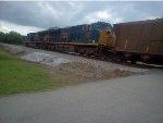 CSX 993 and CSX 3053 lead a Georgia Power unit coal train through White, Ga.
