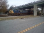 CSX 7761 approaches the Cartersville Depot
