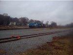 NS 8098(Conrail Heritage Unit) awaits a crew change in Cedartown, Ga.