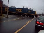 CSX 2385 and 6985 lead a local in Cedartown, Ga.