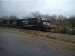 NS 8053 and 8081 awaiting a crew change in Cedartown, Ga.