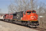CN 8021 On NS 123 Eastbound