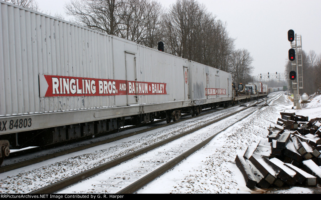 Ringling Bros. Red Unit equipment leaves Montview Yard on the trek south