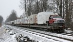 A light snow has begun to fall again as the Ringling Bros. Red Unit departs Lynchburg for N. Charleston, SC