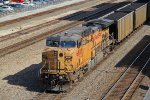 UP 6887 Dpu on a loaded coal drag.