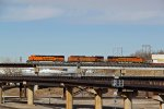 BNSF 7190 New Ge leading 2 older Ge's.