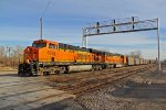 BNSF 6098 Leads a loaded Red Rock coal train.