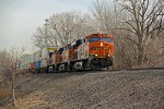 BNSF 6414 Ac power on a stack train.