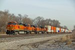 4 Pumpkins lead a stack train West out of Kc Mo.