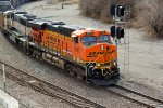 BNSF 5952 Heads up a empty coal drag.