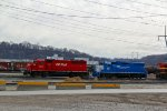 CP 4611 and GMTX 2252 sit at the KCS yard.