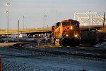 BNSF 6387 Leads a coal load into the last light of the day.