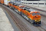 BNSF 8074 & BNSF 8076 Brand new lead a stack train EB!!