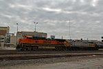 BNSF 1114 & Crex 1327 lead a freight train EB.