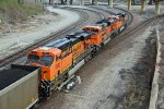 BNSF 5930 and 2 other dpu's work a coal load SB.