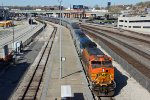 BNSF 5188 Leads the Southwest Chief #4 into Union station.