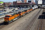 BNSF 8090 Brand new Gevo leads a WB Z train..